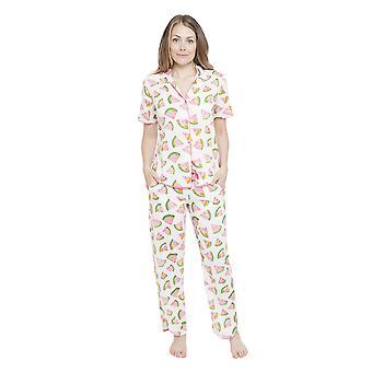 Cyberjammies 4146 kvinnors Pippa vit vattenmelon Print pyjamas byxa