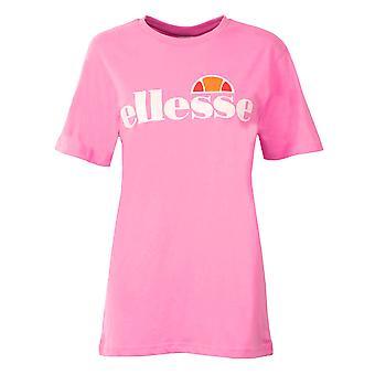 Ellesse Heritage Albany Womens kära pojkvän Fashion T-Shirt mörk rosa