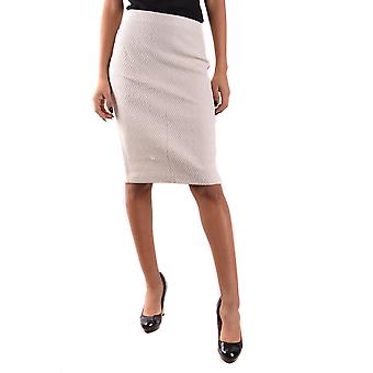 Armani Collezioni Ezbc049058 Women's White Cotton Skirt