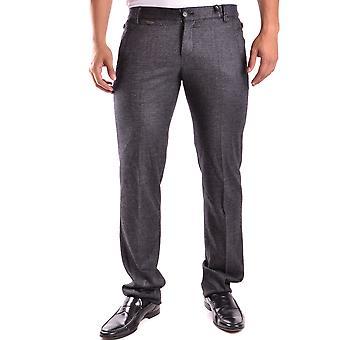 Bikkembergs Ezbc101021 Men's Grey Wool Pants