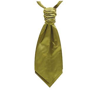 Dobell jungen Lime grün Satin Krawatte Pre gebunden