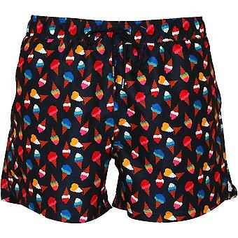 Happy Socks Ice-Cream Cones Swim Shorts, Navy/multi