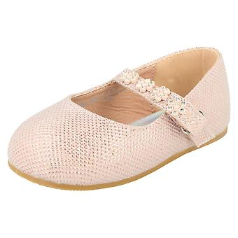 Girls Savannah Shoes with Flower Detailed Strap