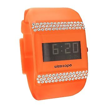 Wize and Ope Classic  Orange Digital  Watch WO-ALL-12S