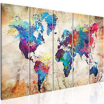 Tavla - World Map: Colourful Ink Blots