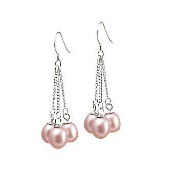 Éternelle Collection Japonica Teardrop FW lavande goutte de perle en argent Sterling boucles d'oreilles