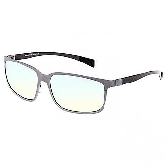 Breed Neptune Titanium and Carbon Fiber Polarized Sunglasses - Silver/Gold-Yellow