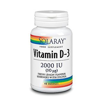 Solaray Vitamin D3 2000iu Lozenges 60 (66037)