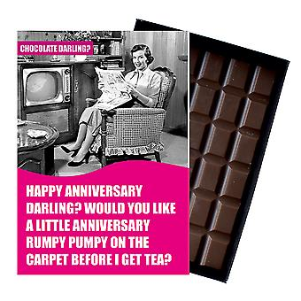 Funny Anniversary Gift for Husband Or Boyfriend Boxed Chocolate Greeting Card Present CDL120
