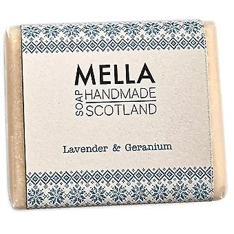 Lavendel & Geranium zeep Bar-Mella Handgemaakte zepen Shetland
