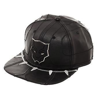 黒のスナップ バック帽子を黒豹スーツ