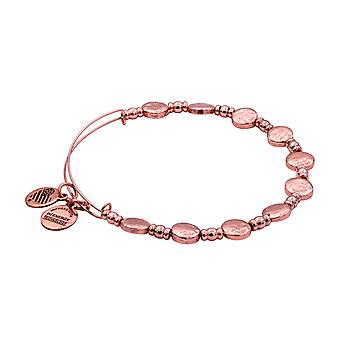 Alex and Ani Coin Metal Beaded Bangle Bracelet - Shiny Rose Gold