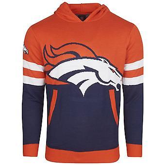 NFL Ugly Sweater Big Logo Knit Hoody - Denver Broncos