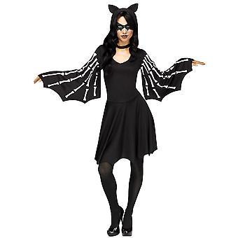 Vrouwen sexy vleermuis volwassen kostuum