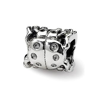 925 Sterling Silver Antiquário Reflexão Reflexões SimStars Ladybug Pingente Pingente Colar Joias para Mulheres