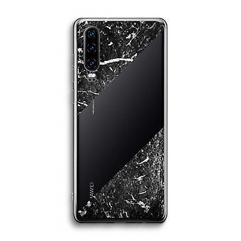 Funda transparente Huawei P30 - Mármol negro