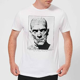 Universal Monsters The Mummy Portrait Men's Camiseta - Blanco