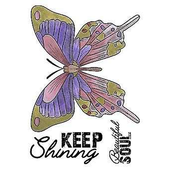 Crafter's Companion A6 Rubber Stamp - Keep Shining