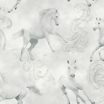 Camarillo Horse Wallpaper Grey Arthouse 667300