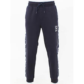 Emporio Armani Taped Logo Sweat Pants - Navy