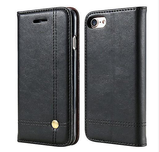 Iphone 7+/8+ Plus 5.5 Retro Leather Case Black