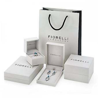 Fiorelli Silver Revised Black Mop And Rose Gold Asymetric Necklace N4167B