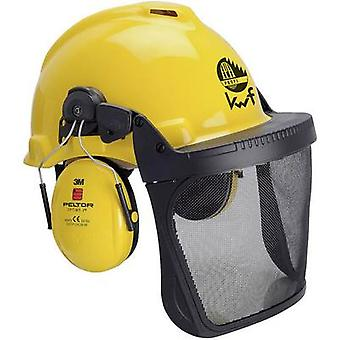 3M Forest XA007707301 Foresters hard hat Built-in face shield Yellow
