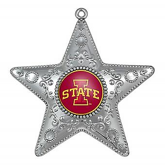 Iowa State Cyclones NCAA Sports Collectors Series Silver Star Ornament