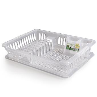 Hobby Life Small Dish Drainer With Tray Clear