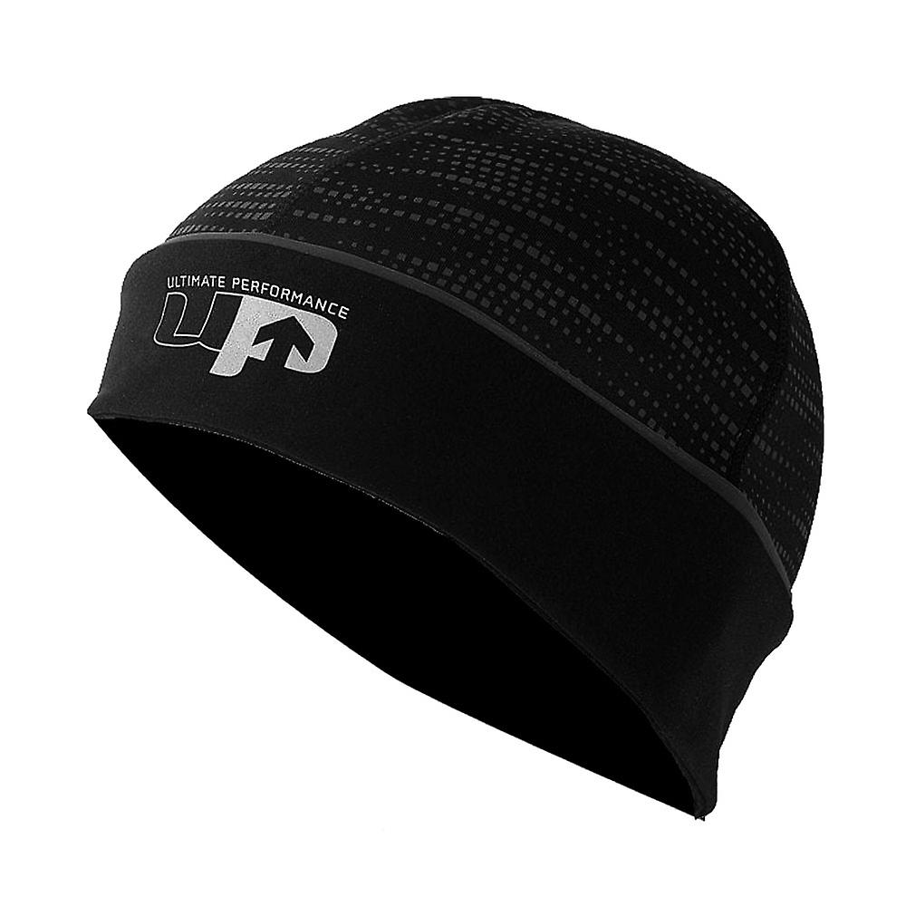 Ultimate Performance Running Fitness Training Reflective Beanie Hat Black