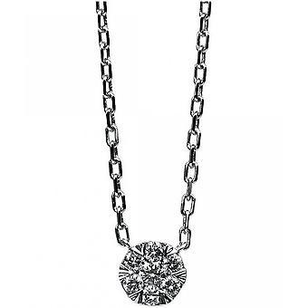 Diamantcollier Collier - 14K 585 Weissgold - 0.11 ct.