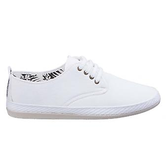 Flossy Yago mens canvas Lace up Plimsolls wit