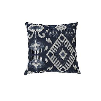 Contemporary Style Set of 2 Throw Pillows, Navy Blue