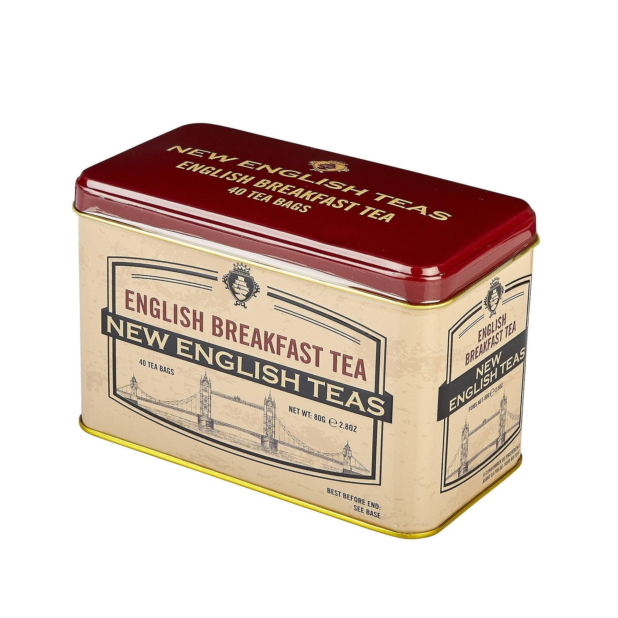 Vintage selection tower bridge english breakfast tea tin 40 teabags
