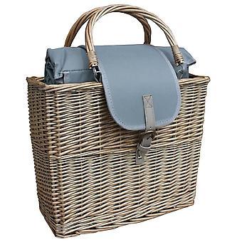Cesto chiller lavaggio antico con coperta da picnic