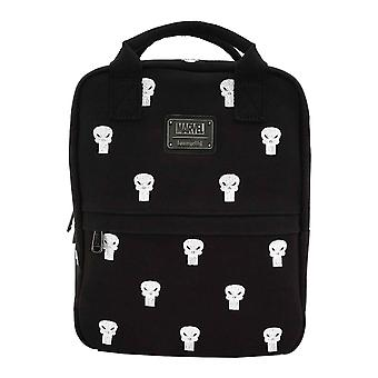 Punisher Backpack Embriodered All over print new Official Marvel Loungefly Black