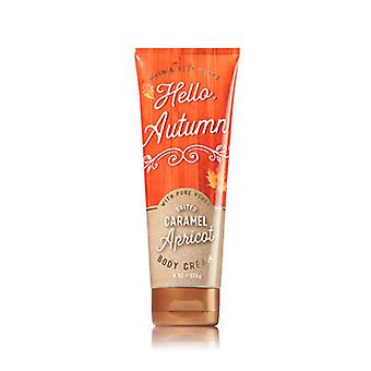 Bain et corps travaille Salted Caramel Apricot Body Cream 8 oz / 226 g (2 Pack)