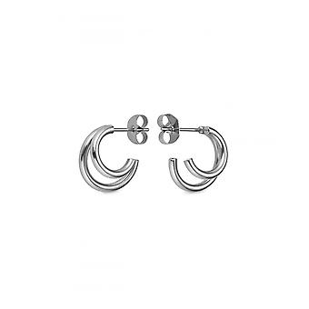 Rosefield DHES-J226 Earrings - THE LOIS Double Steel Collection