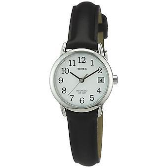 Timex damski podstawowe Big Data łatwe czytnik zegarek z czarnym skórzanym paskiem - T2H331