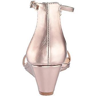 Jewel Badgley Mischka Femei's DARRELL Sandal, aur roz/metalic, 6 M SUA