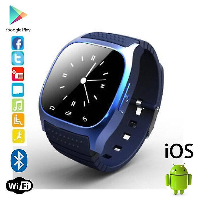 Stuff Certified® Original M26 Smartwatch Smartphone Fitness Sport Activity Tracker Watch OLED Android iOS iPhone Samsung Huawei Blue