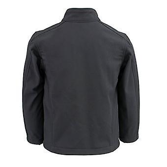 Milwaukee Läder Boy & apos; s Lightweight Dragkedja Front Soft Shell Jacket (Svart, L)
