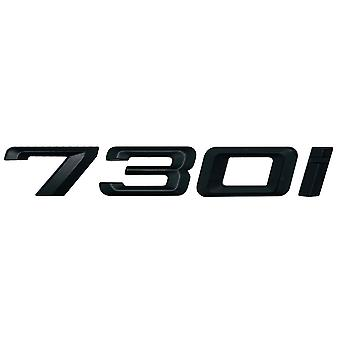 Matt Black BMW 730i Car Model Rear Boot Number Letter Sticker Decal Badge Emblem For 7 Series E38 E65 E66E67 E68 F01 F02 F03 F04 G11 G12
