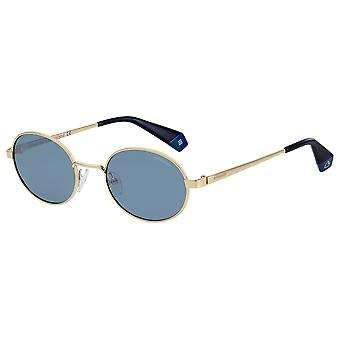 Polaroid PLD6066/S UHU/XN Gold/Polarised Blue Sunglasses