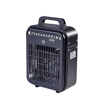 Portable oficina garagem 3KW ventilador elétrico espaço aquecedor com 3-configurações de calor
