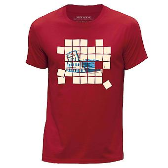 STUFF4 Mannen ronde hals T-T-shirt/oude mozaïek/Colosseum/rood
