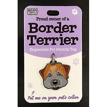Wags & Whiskers Pet Identity Tag - Border Terrier