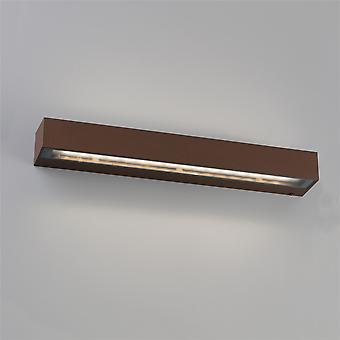 Faro Tacos - Outdoor LED Rust Brown Up Down Wall Light 30W 3000K IP65 - FARO71065