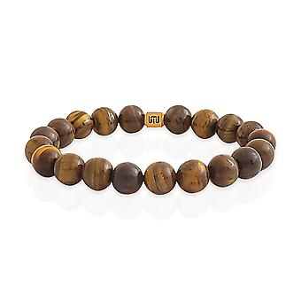 Tiger's eye & gold bracelet