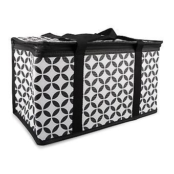 Cooler Bag black/white patterned